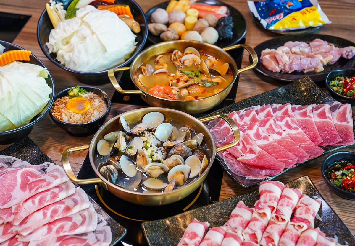 [高雄韓式燒肉]娘子居食屋(高雄美術館加盟店)-一套餐爽吃8種部位肉x超划算獨享個人鍋 @美食好芃友