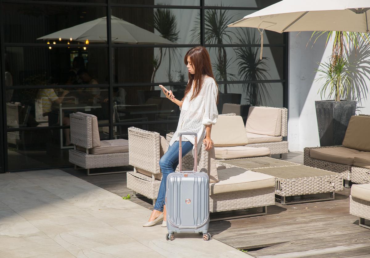 [行李箱推薦]DELSEY ECLIPSE DLX行李箱-超美型商務登機箱~前開設計筆電超好拿 @美食好芃友
