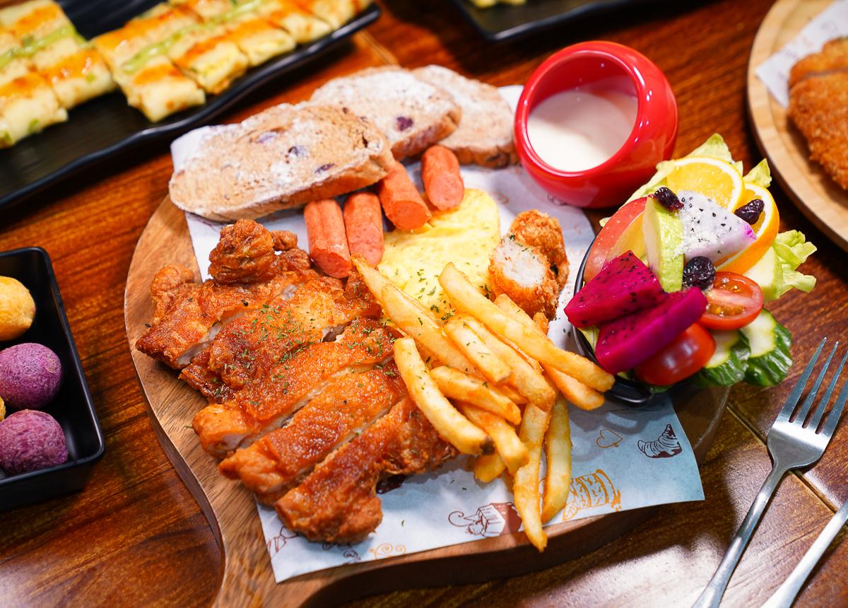 [高雄早午餐]三個蛋早午餐-低調卻人潮滿滿鳳山早午餐!平價拼盤份量大又好吃 @美食好芃友