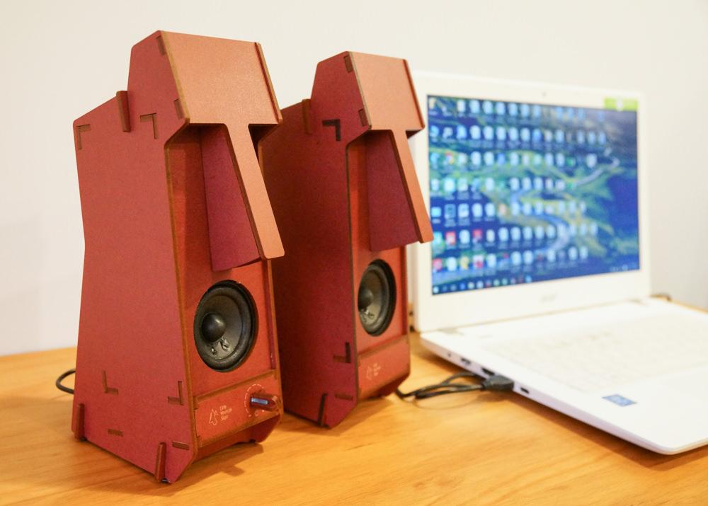 [生活]立體拼圖音響Stereo Puzzle-DIY超潮摩艾石像音響 @美食好芃友