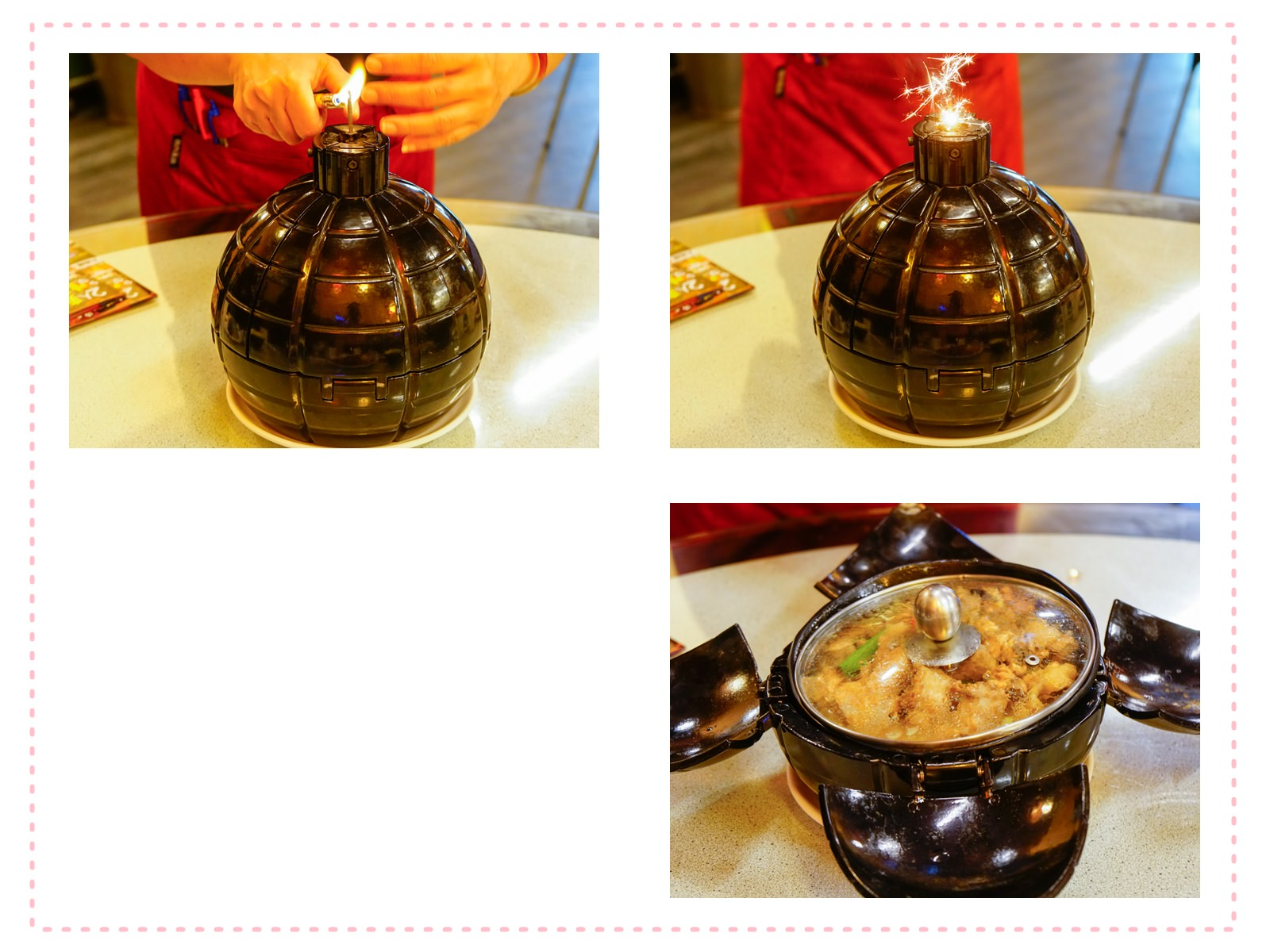 [高雄]城裡的月光土雞-燃燒吧!噴汁火燒雞 桌邊秀創意吃土雞 高雄土雞城推薦 @美食好芃友