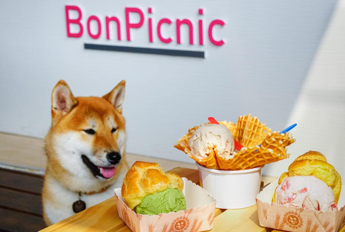 [高雄]BonPicnic小野餐-粉紅小屋吃冰配柴犬! 駁二最新IG打卡熱點! 天然手作冰淇淋 高雄駁二美食推薦 @美食好芃友