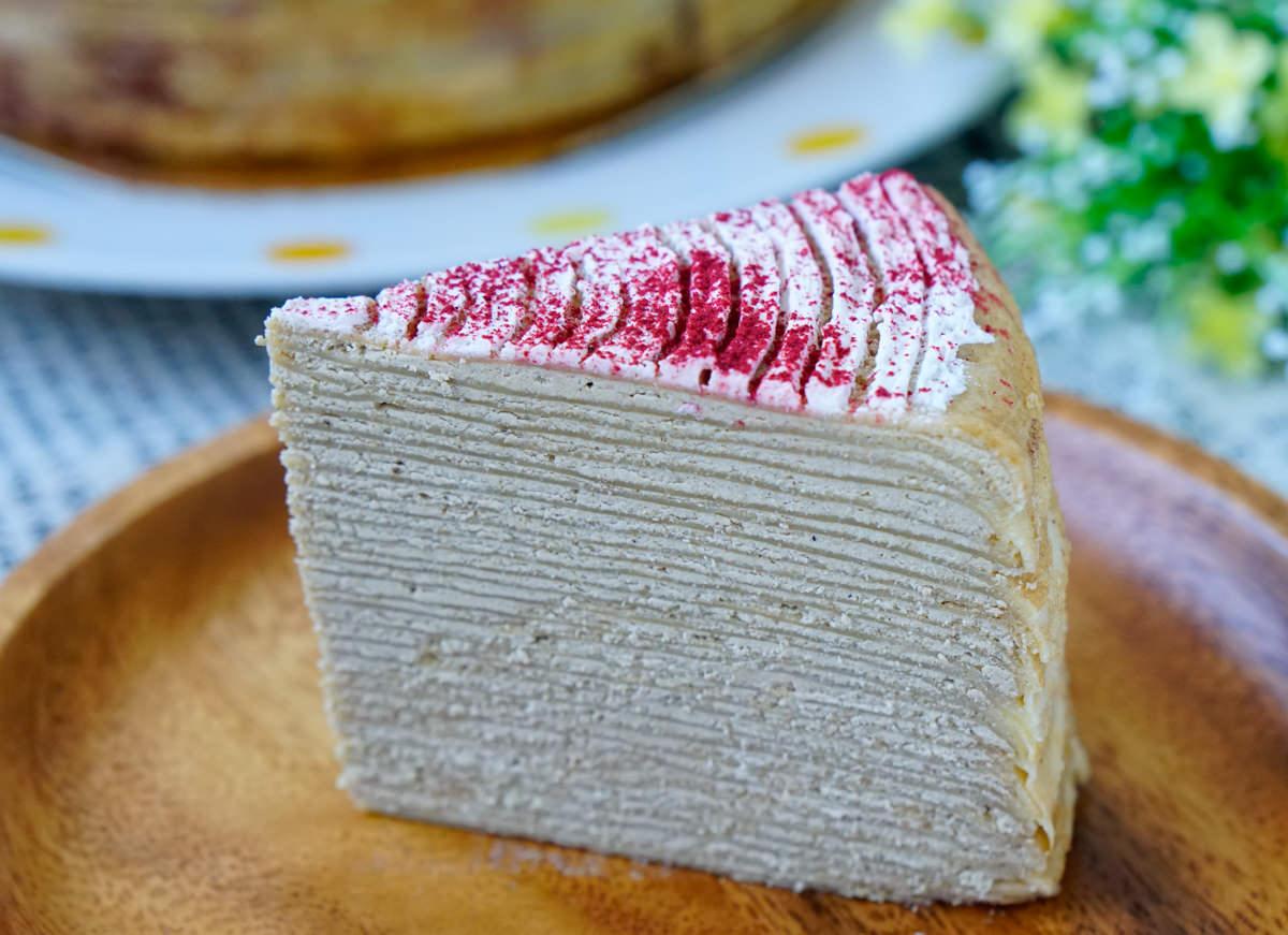 [宅配]女王千層法式手工甜點New one Pâtisserie-超貴氣千層蛋糕! 超華麗玫菓漸層三色千層 高雄千層蛋糕推薦 @美食好芃友