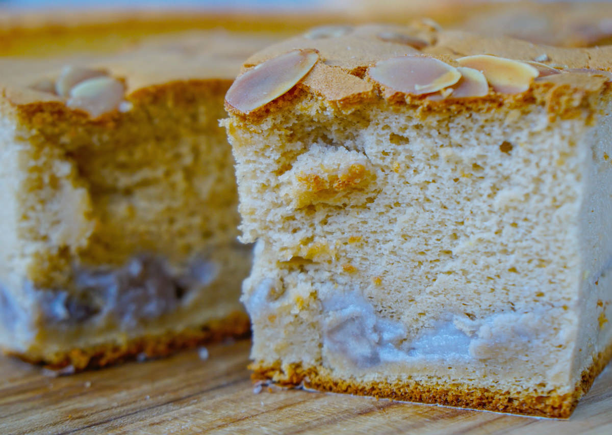 [高雄古早味蛋糕]法朗西斯烘培坊-芋頭夾層古早味蛋糕!獨家口味綿軟口感 @美食好芃友