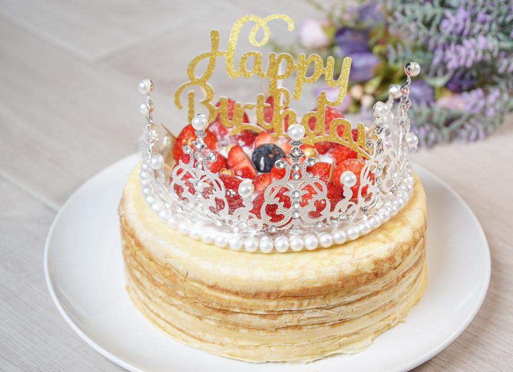 [千層蛋糕推薦]女王千層法式手工甜點-華麗破表!超浮誇皇冠草莓千層蛋糕 @美食好芃友