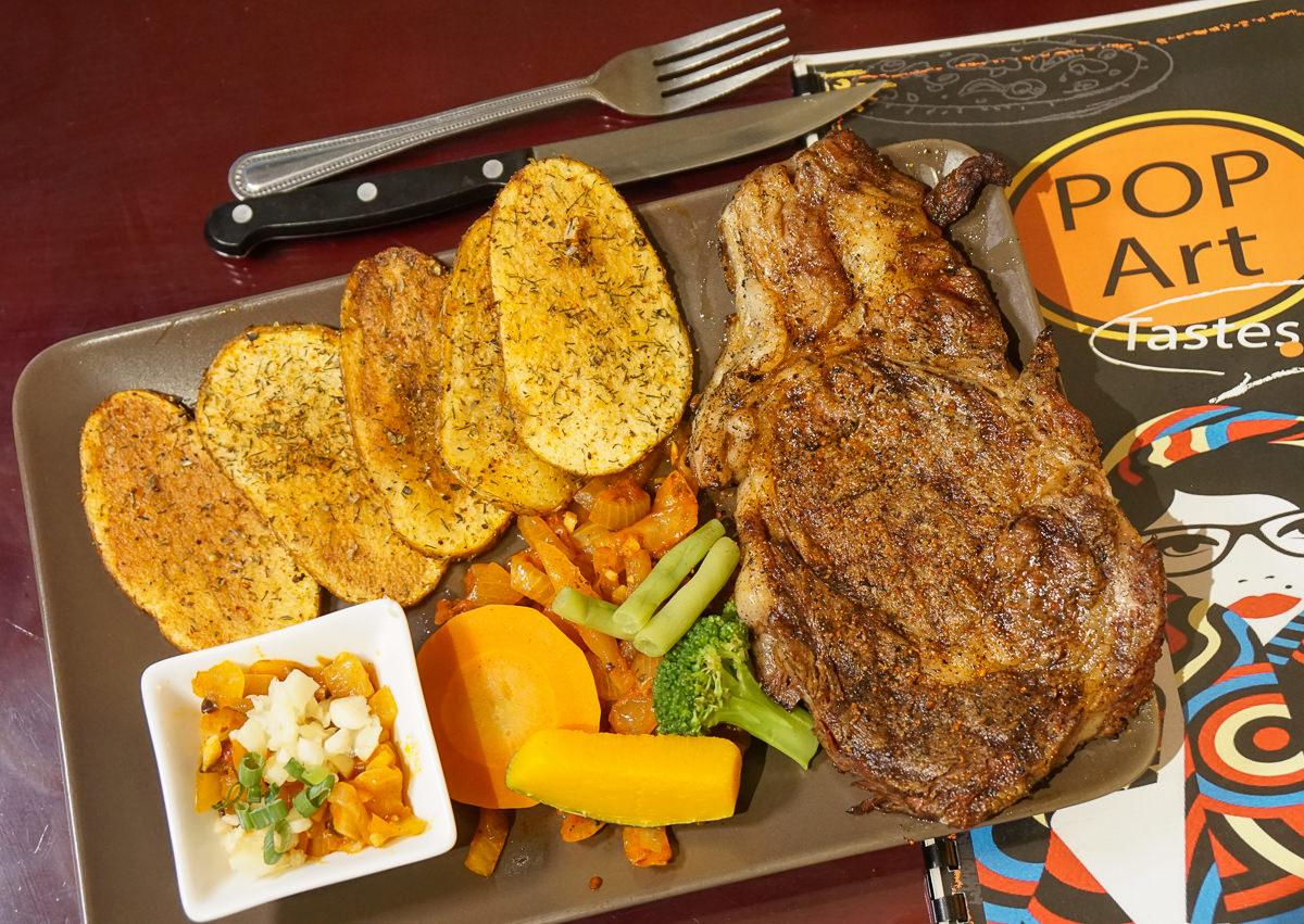 [高雄]波普藝術廚房(左營店)-加拿大主廚巧手~肉控必吃印度咖哩雞腿排和肋眼牛排 @美食好芃友