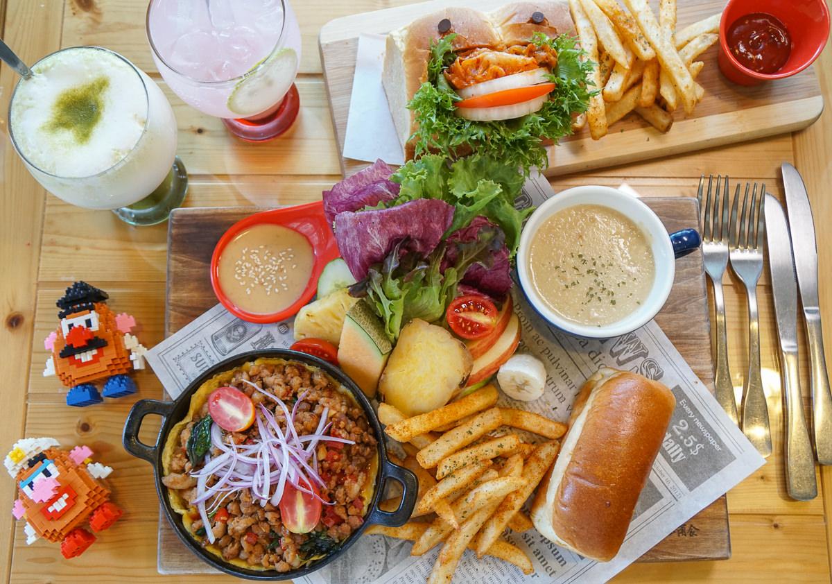 [高雄早午餐推薦]木上角食-超澎湃早午餐!塞滿泡菜的怪獸堡x打拋豬鐵鍋煎蛋 @美食好芃友