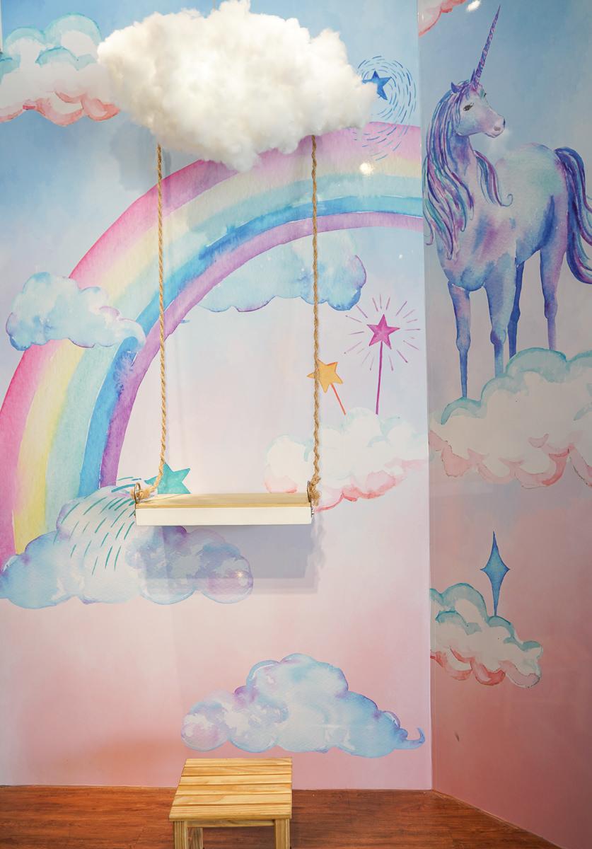 [高雄]好夥伴咖啡(雙慈店)-超美彩繪舒芙蕾鬆餅!網美必拍雲朵鞦韆彩虹牆 @美食好芃友
