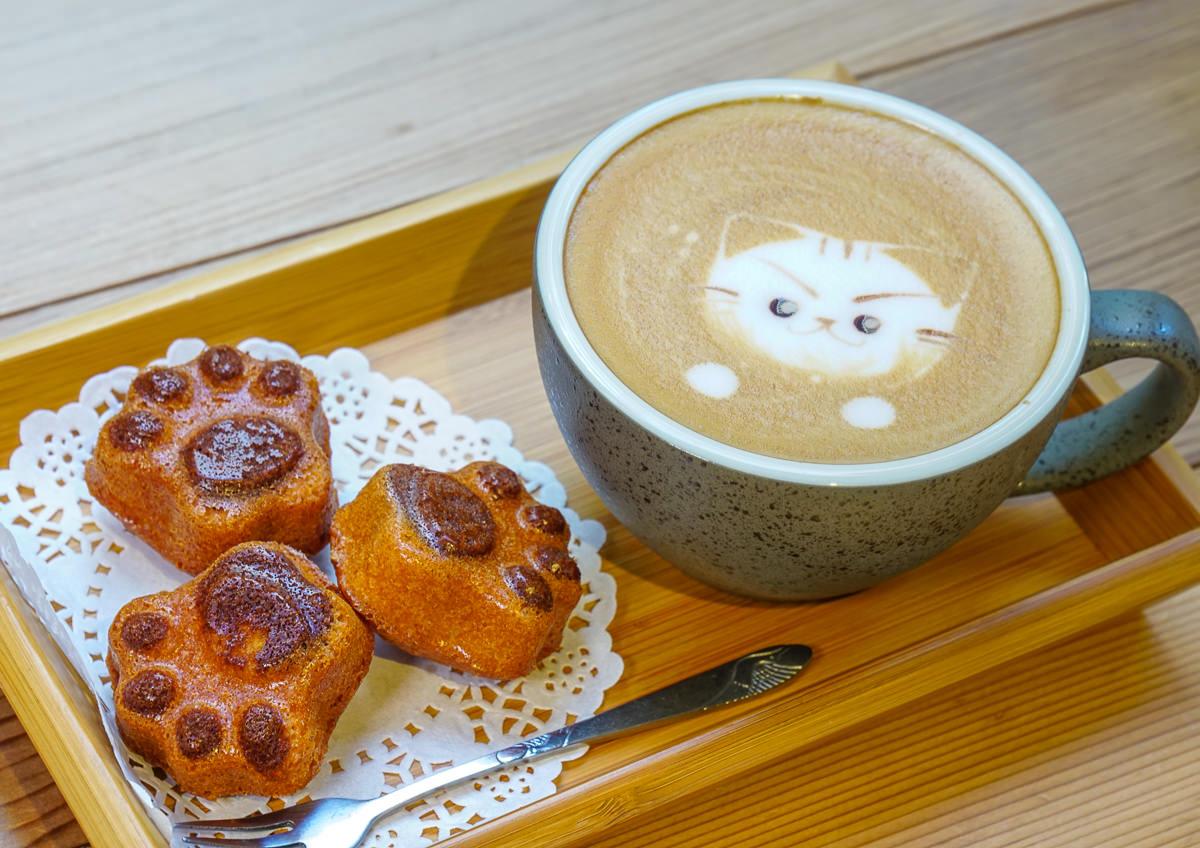 [高雄]AWAKE COFFEE(巨蛋店)-萌萌繽紛娃娃牆!打卡新熱點~可愛限量貓掌蛋糕 @美食好芃友