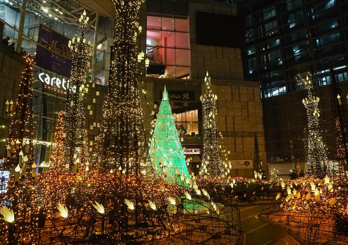 [東京聖誕點燈]汐留Caretta聖誕點燈-超夢幻迪士尼主題!東京聖誕必訪浪漫景點 @美食好芃友