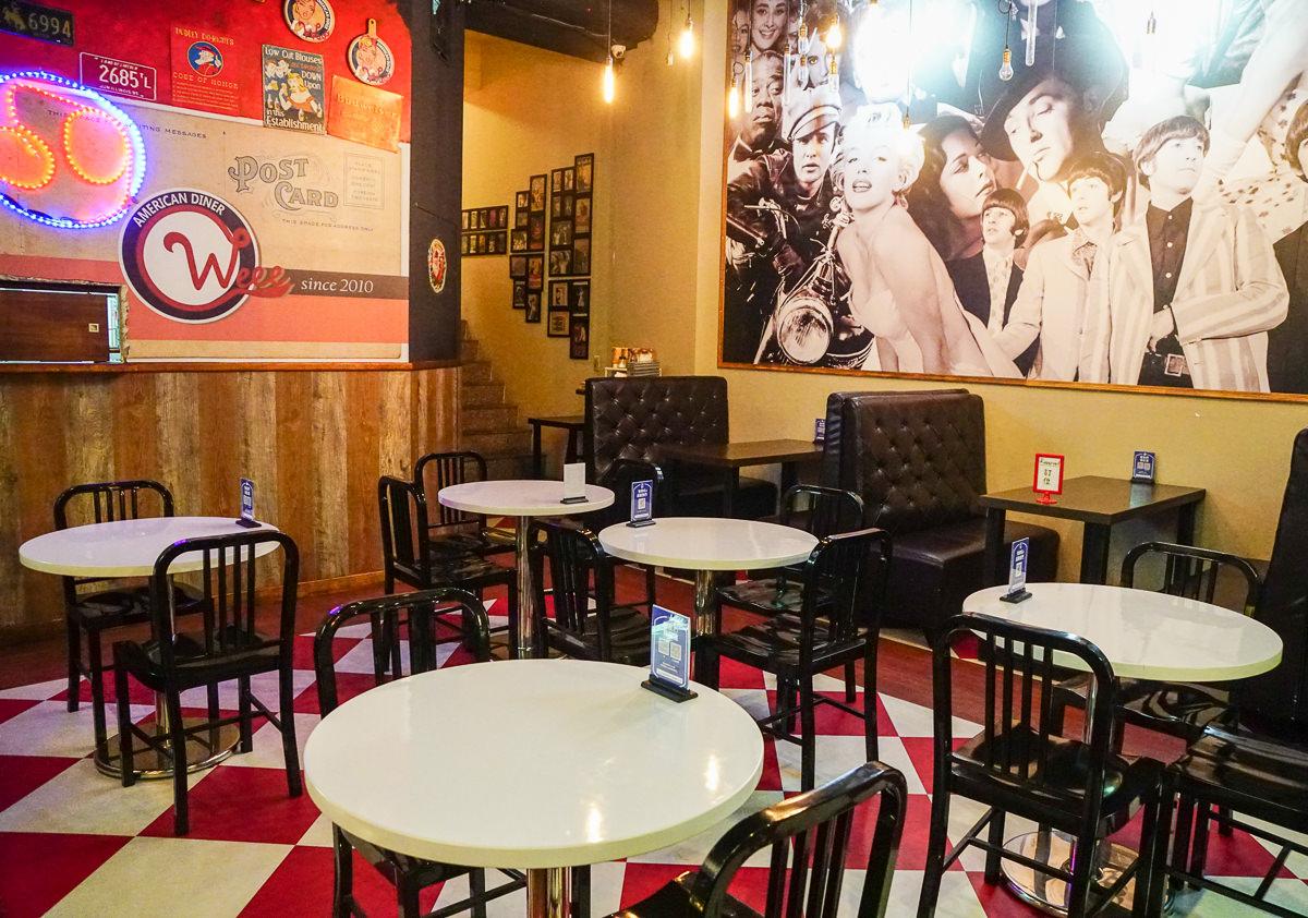 [高雄]Weee哈迪高雄美術館店美式餐點專賣-療癒巨無霸漢堡x吮指好吃肋排!50年代美式復古風餐廳 @美食好芃友