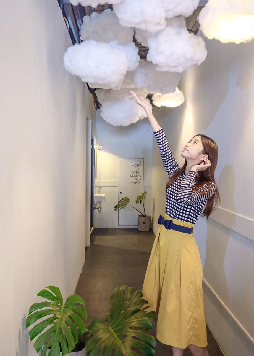 [高雄]花呷咖啡-巷弄隱藏網美咖啡店!富士山造型磅蛋糕x雲朵造景 @美食好芃友