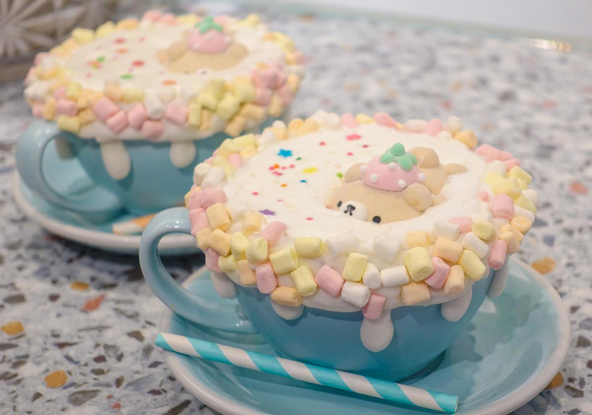 [高雄下午茶推薦]雛菊鬆餅-夢幻熊熊棉花糖比利時鬆餅!閨密約會聚餐美店 @美食好芃友