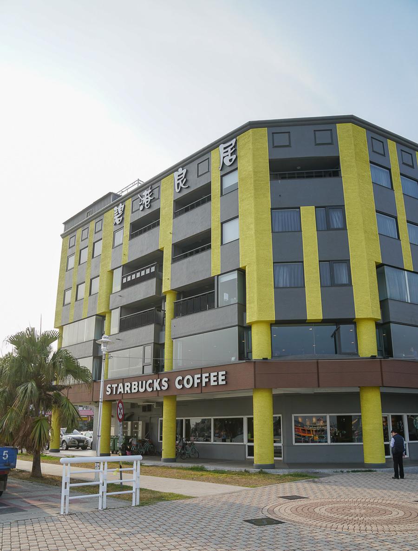 [高雄海景咖啡]Starbucks星巴克咖啡(西子灣門市)-高雄唯一海景星巴客!喝咖啡賞85大樓高雄港海景 @美食好芃友