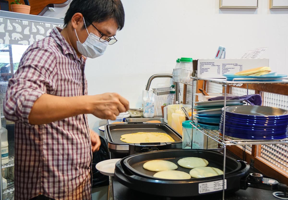 [高雄鬆餅推薦]Gi Dianma一點點輕食-愛河旁銅板價美味鬆餅店!藍莓鬆餅料超狂~ @美食好芃友