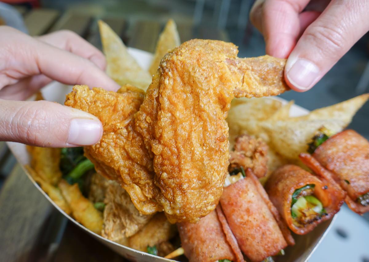 [高雄]犁田鹹酥雞(新興六合店)-多樣獨家食材鹹酥雞~超涮嘴Q彈 「美麗骨」 @美食好芃友