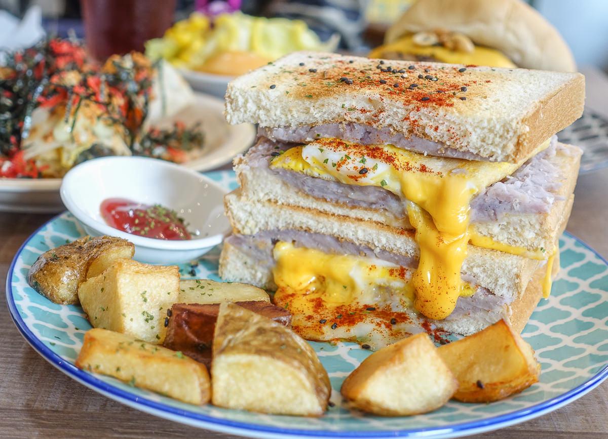 [高雄早午餐推薦]尋早早餐-芋頭控失心瘋的療芋三明治x鳳山巷弄文青老屋 @美食好芃友