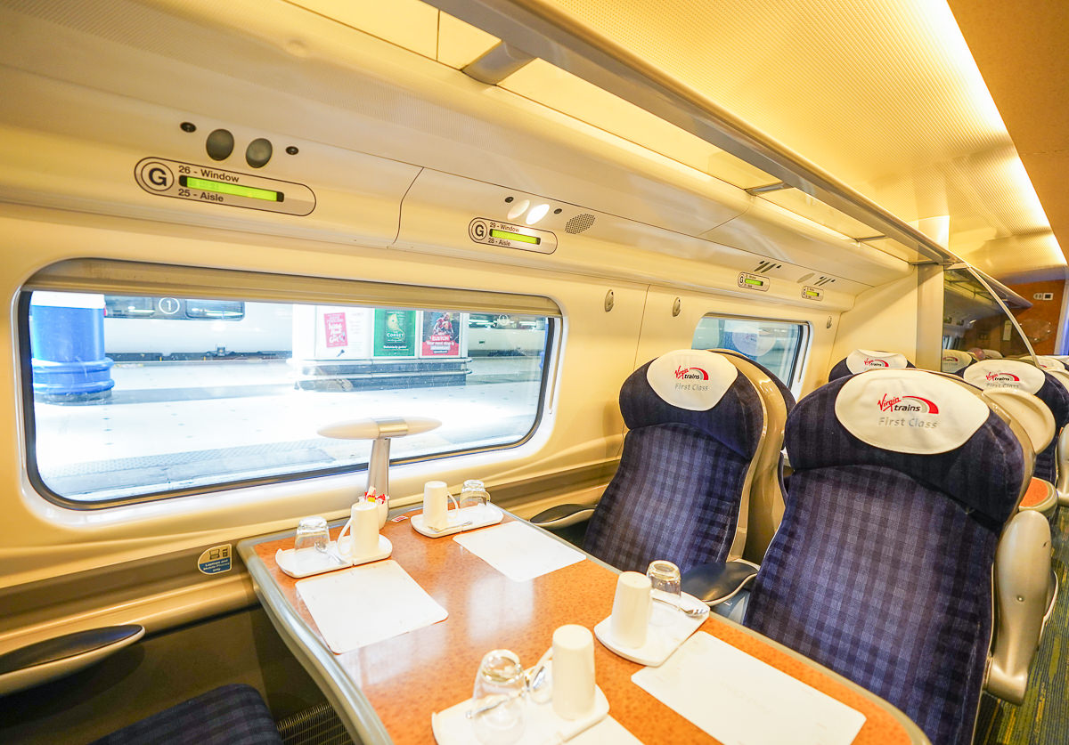 [英國旅遊]自由又方便英國火車通行證:使用教學&Virgin trains頭等艙搭乘心得 @美食好芃友