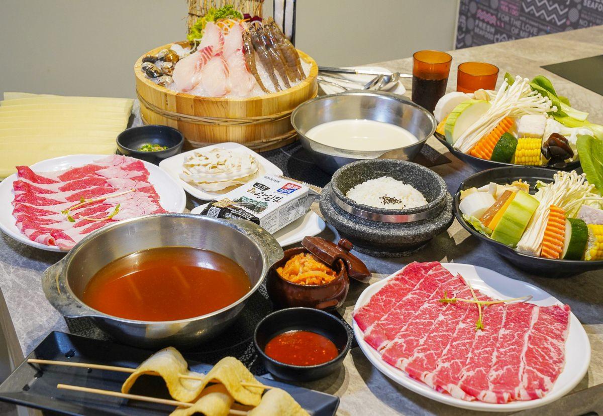 [高雄火鍋推薦]哈肉鍋-愛河家樂福人氣火鍋~超韓式泡菜鍋全餐!還有石鍋飯和魚糕唷~ @美食好芃友