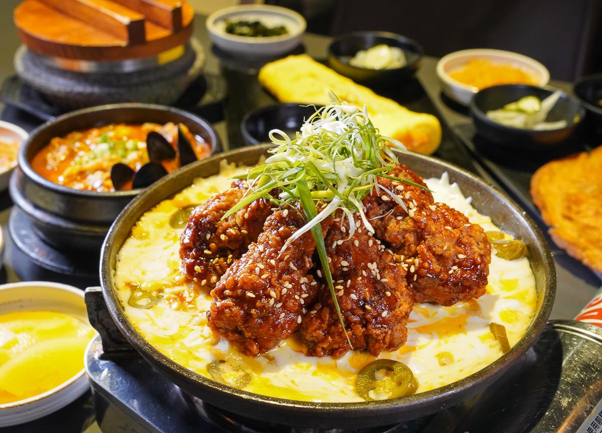 [高雄]玉豆腐韓國家庭料理-起司控吃起來~熔岩起司炸雞套餐!楠梓家樂福必吃美食 @美食好芃友