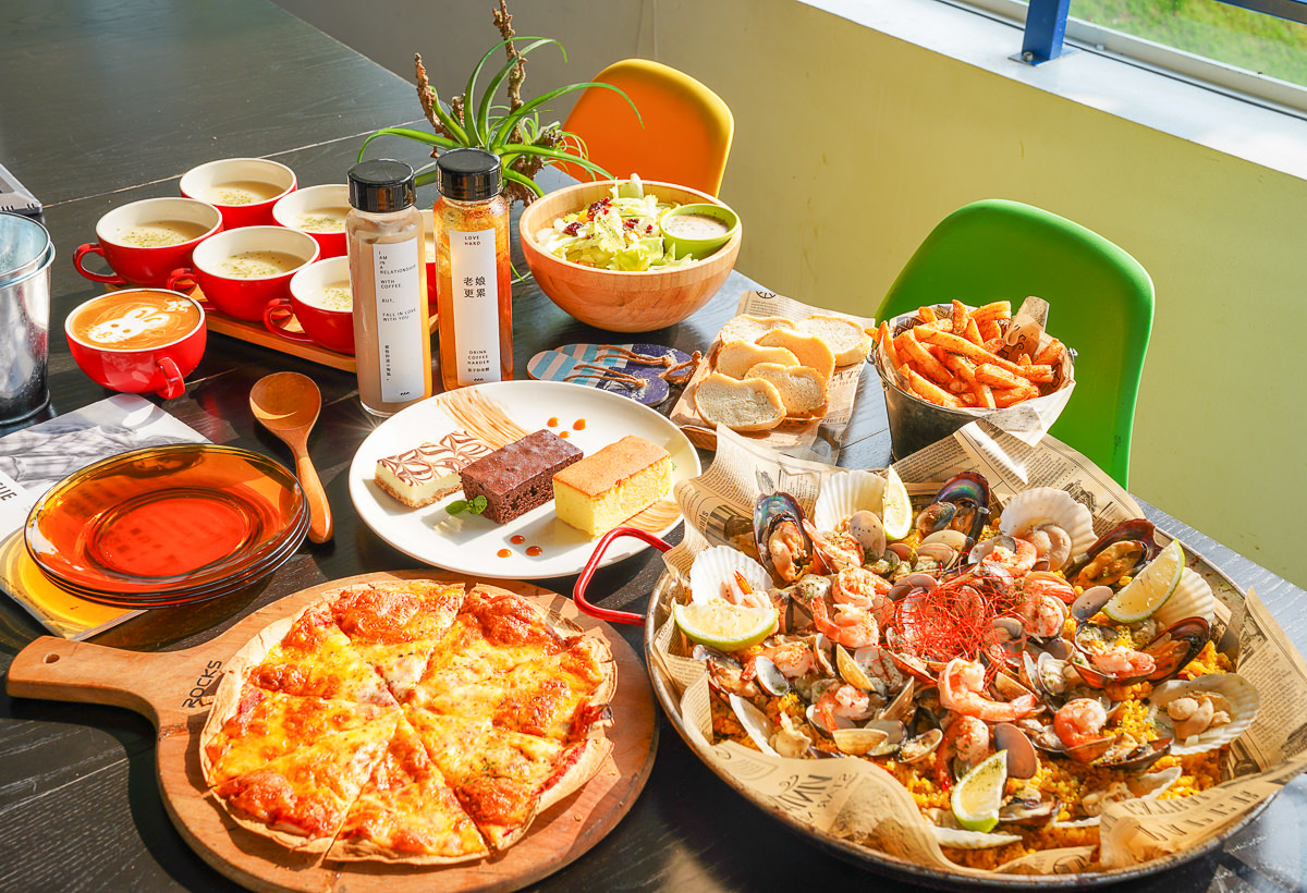 [高雄景觀餐廳]沃野山丘-霸氣澎湃海鮮燉飯x藍白小屋浪漫地中海渡假感 @美食好芃友