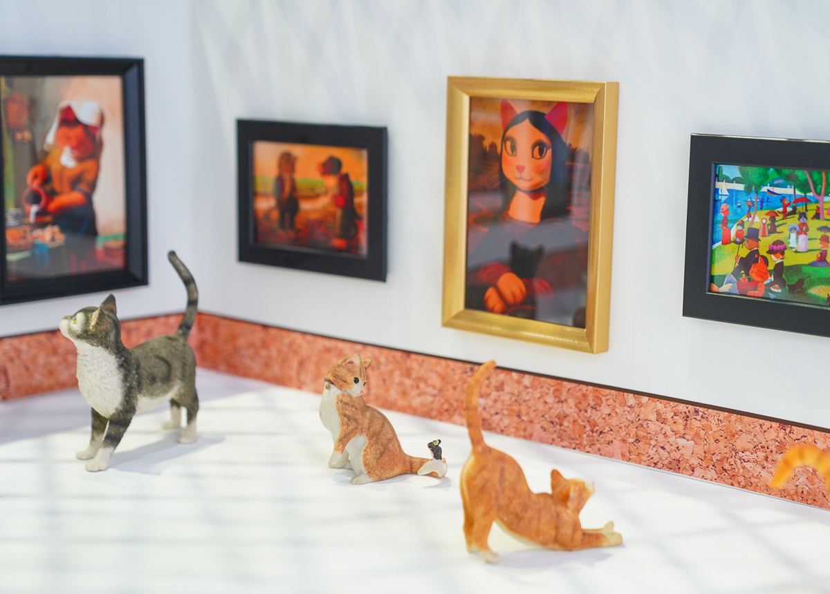 [高雄駁二展覽]貓•美術館-世界名畫全面喵化!貓奴必衝夢幻藝術展 @美食好芃友