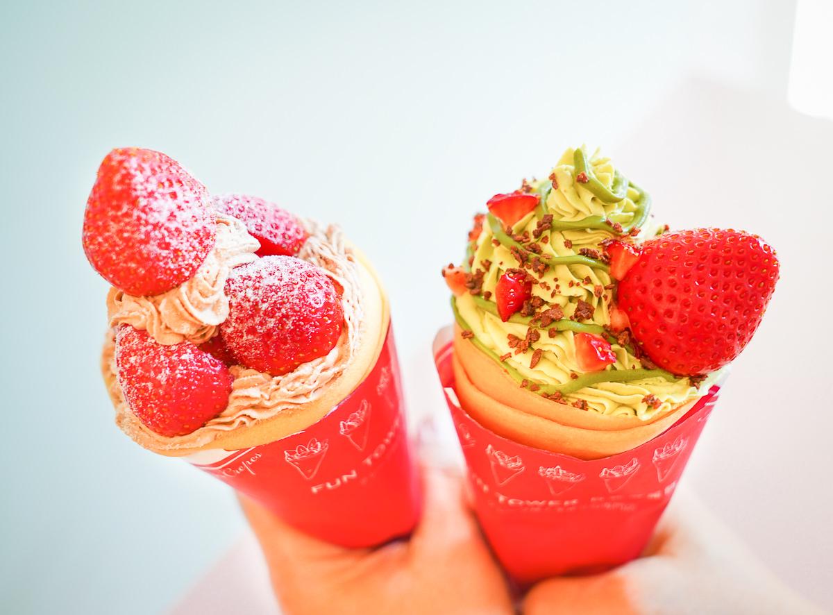 [高雄巨蛋美食]Fun Tower 明華店-全新平價早午餐x華麗可麗餅!超好打卡馬卡龍粉色系空間 @美食好芃友