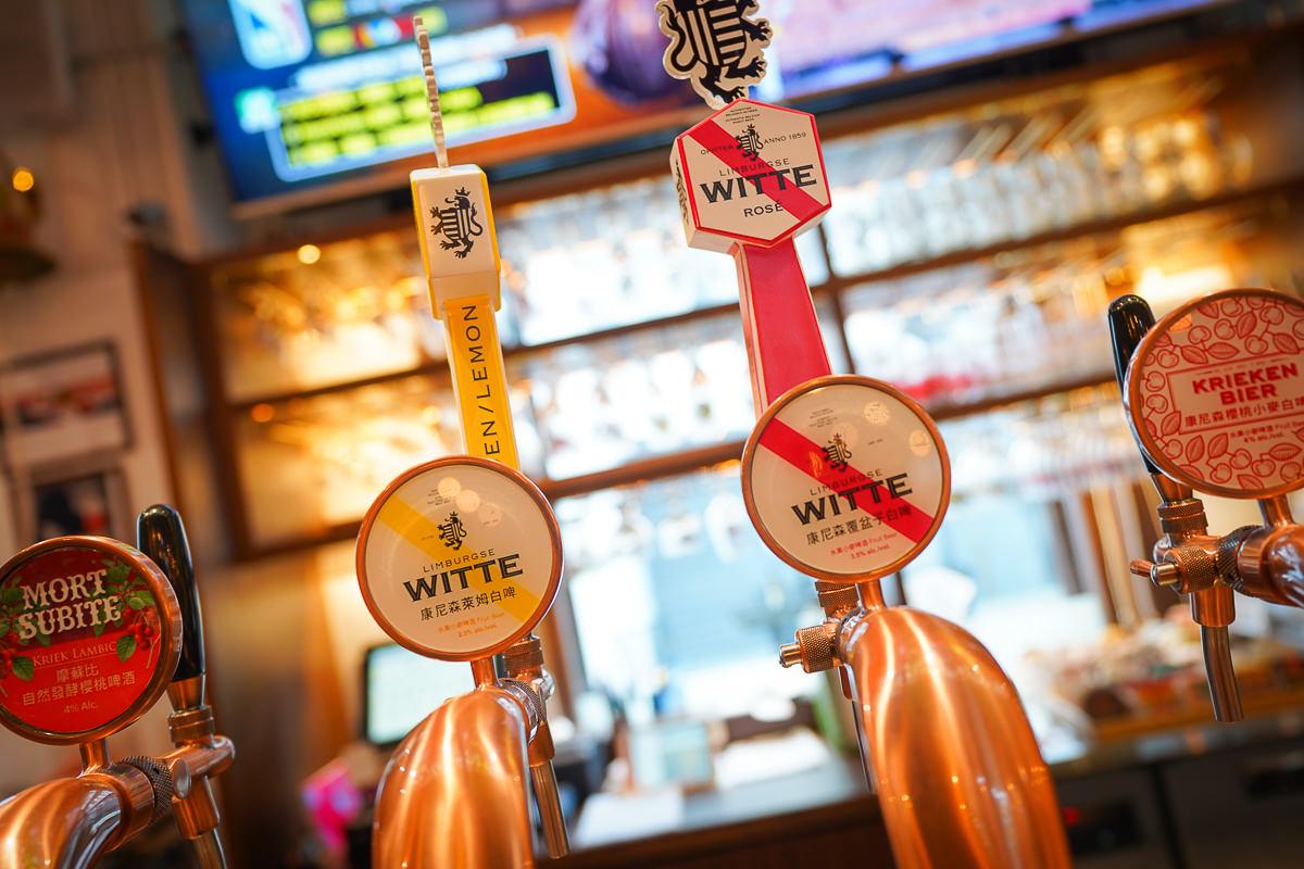 [高雄駁二美食]細酌牛飲Beer Talk全台最豪邁~68支生啤酒柱佔滿吧檯!比利時生啤酒專賣餐酒館 @美食好芃友