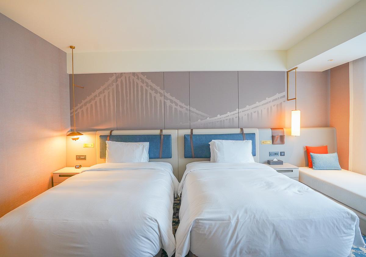 [台北住宿]新板希爾頓酒店-一秒到國外~綠樹度假感高空無邊際泳池!都市頂級質感休憩旅店 @美食好芃友