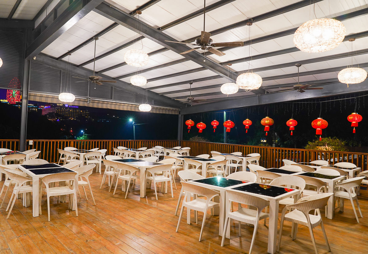 [高雄景觀餐廳]無名咖啡-絕美夕陽、義大摩天輪夜景、戲水池滑梯~約會或親子都適合的平價好去處 @美食好芃友