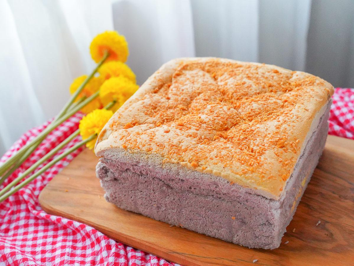 [高雄美食]豆逗無油蛋糕舖-純豆漿製作!綿軟無油蛋糕~爆餡芋泥x濃厚芝麻必吃! @美食好芃友