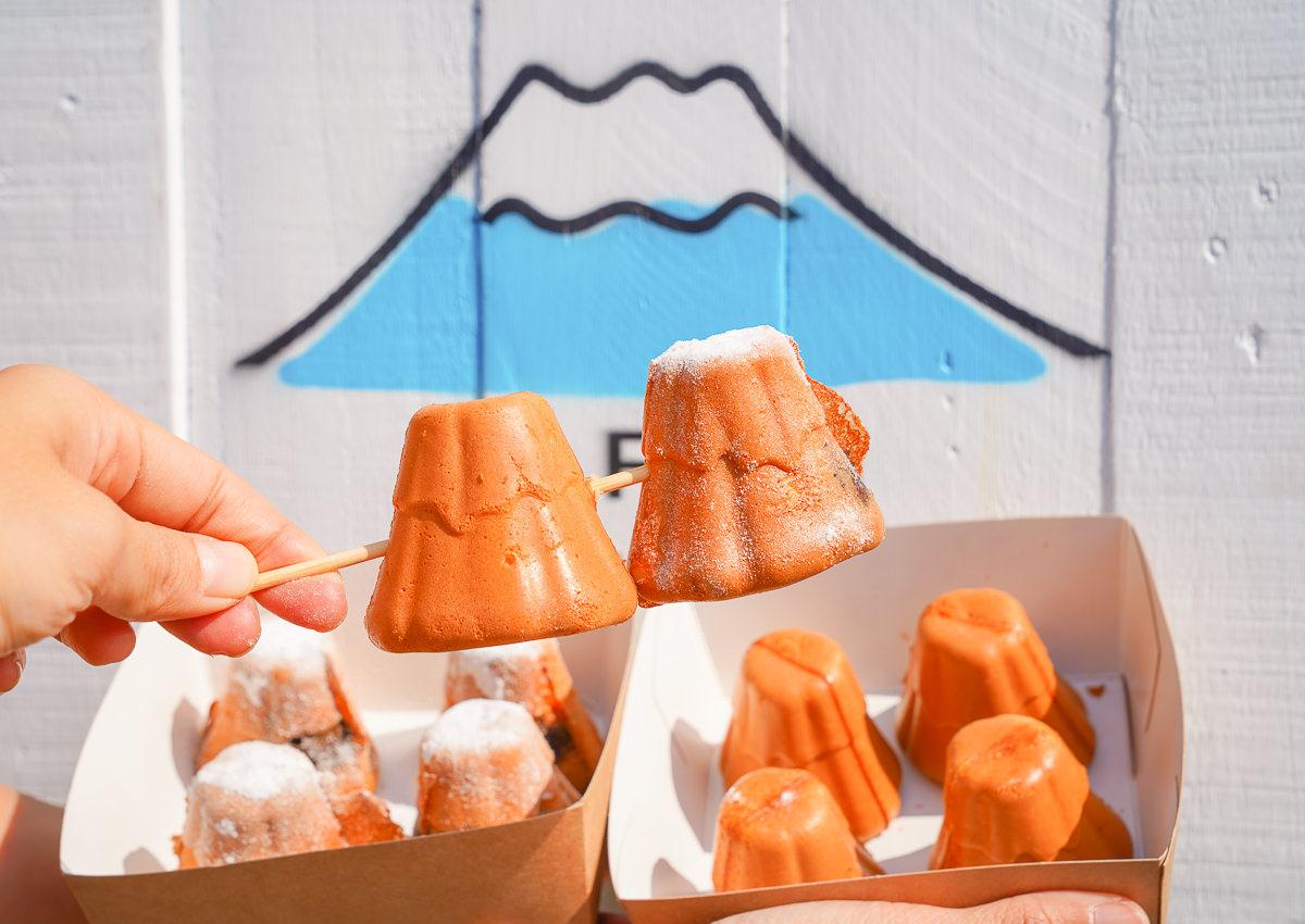 [高雄雞蛋糕推薦]Mr. FUJI 富士先生雞蛋糕-假日限定~超療癒富士山造型雞蛋糕!爆紅排隊駁二美食 @美食好芃友