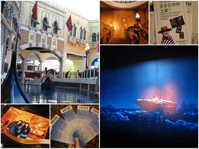 [澳門]威尼斯人套裝護照使用-貢多拉運河及鐵達尼展 @美食好芃友