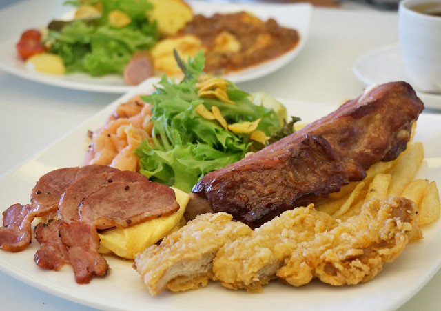 [台南]大份量早午餐!大塊肋排X美味蛋捲-AJ Brunch @美食好芃友